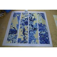 ZF-JH026 gold glass mosaic to be art mosaic murals china style plum of blossom, orchid, bamboo thumbnail image