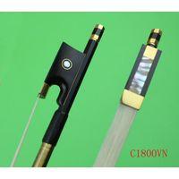 black carbon fiber violin bow thumbnail image
