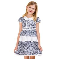 2013 girls dress,layered dress with Vintage printing(GG-211S3) thumbnail image