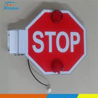 School bus electric stop signal arm with high reflective sheet thumbnail image