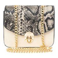 snake print small shoulder bag