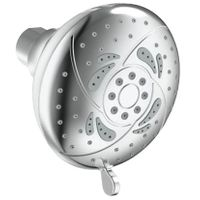 5 function chrome rose shower head
