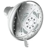 5 function chrome rose shower head