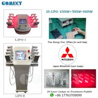 650nm&780nm&940nm triple wave 3D Lipo laser slimming machine