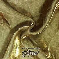 24K Gold  Plated Fabric with Nanocoating - Exotic G-EX01