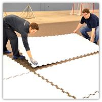 White Color Custom Synthetic Uhmwpe Ice Rinks Boards