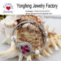 Wholesale handmade adjust gemstone knitted string bracelet