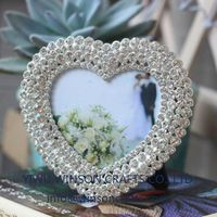 Anniversary gifts heart photo frame crystals picture frame