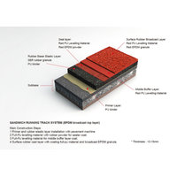Synthetic Running Track Surface Material Product (Sandwich System,IAAF certificated) thumbnail image