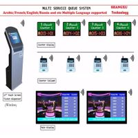 17 inch High Quality Bank Arabic/French Wireless Queue Management System with Best Software