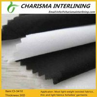 30D woven fusible interfacing 3410