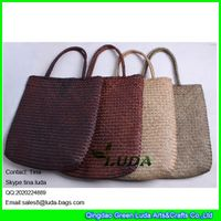 LDSC-163 wholesale seagrass straw handbags cheap straw handbags for promotion