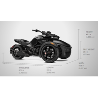 New 2017 CAN-AM SPYDER F3 ATV