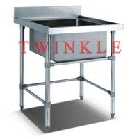 Practical Stainless Steel Single Sink Table