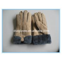 Cheap Fur Gloves Wool Lined Fur Gloves For Winter thumbnail image