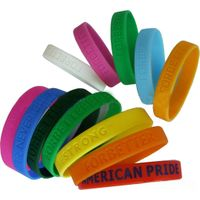 fashion silicone bracelet with custom logo