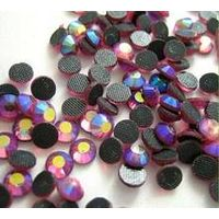 Siam AB color lead free china hotfix rhinestone for decoration