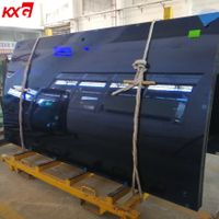 12mm Ford Blue Curved Tempered Glass Tinted Safety Bent Toughened Glass Manufacturer thumbnail image