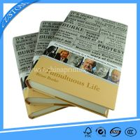 printing books in china professional round spine case bound novel