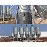 Galvanized feed bins or feed tower for pig farm project grain storage silo price pig feeding equipme