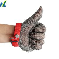 High Quality Protection Safety Stainless Steel Chain Mail Gloves for Meat Processing thumbnail image
