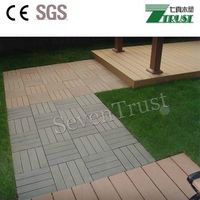 WPC DIY board decking tile wood plastic composite(WPC) decking/flooring tile engineered thumbnail image