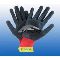 Nylon Work Safety Latex Coated Gloves Crinkly thumbnail image