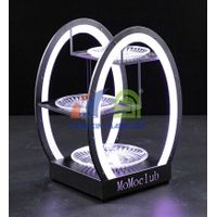 Egg Shape Three Layer LED Fruit Serving Tray  LED fruit serving tray