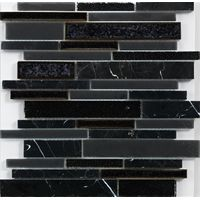 2018 Foshan hot sale Wall black mosaic tile factory direct sale