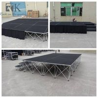 Aluminum portable outdoor stages with portable stage legs