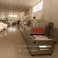 Chemical powder microwave dryer