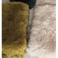 Natural White & Dyed Tibet Lamb fur plate,