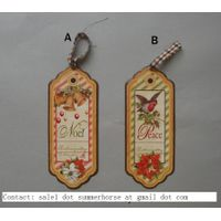 Holiday Decration Holiday Decorative Items Wood Crafts Festive Hanging Decoration Handicrafts