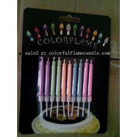 Colored flame birthday candle