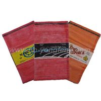 leno mesh bag with label
