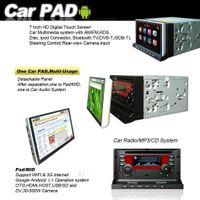 """7"""" 2 Din HD Car DVD Player BT TV + WiFi 3G GPS Android 2.3 PAD MID OTG"""
