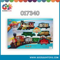 Electric Train Toys With Steam 017340