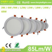 Elegant Design Super Slim Round LED panel light 3W 6W 9W 12W/ 15W 18W 24W 48W