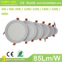 Elegant Design Super Slim Round LED panel light 3W 6W 9W 12W/ 15W 18W 24W 48W