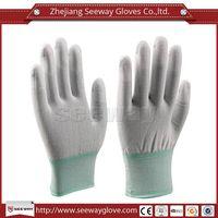 SeeWay 808 Cleanroom Nylon and PU Fingertip Coated Gloves