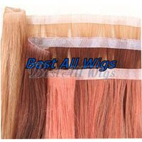 Hand Knotted PU Weft tape hair