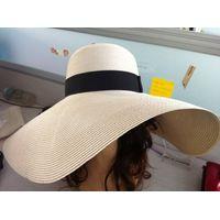 Large wide brim women's paper hats