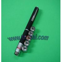 5 in 1 Green Laser Pointer Pen with 5 star caps