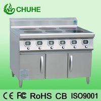 Induction cooker range with 6 burner