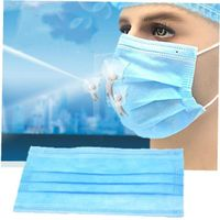 Disposable medical surgical mask meltblown cloth sterile protective mask three layers thumbnail image