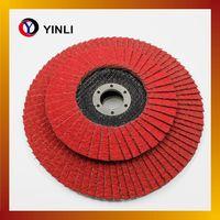 5'' Abrasive red color Flap Disc with VSM ceramic