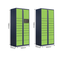 electronic parcel locker and parcel storage locker//refrigerate electronic locker