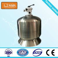 Top mounted stainless steel swimming pool filter