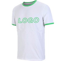 Custom men's 50% cotton 50% polyester round neck printed t shirt with your own logo design