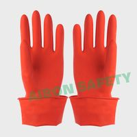 unlined latex glove for cleaning